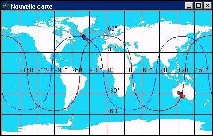 Orbites de 2 satellites G.P.S.
